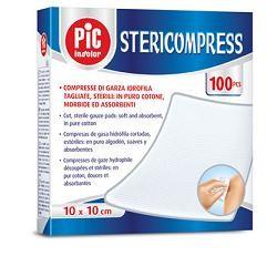 Garza Compressa Idrofila Pic Stericompress 10x10 Cm 4 Buste  25 Pezzi