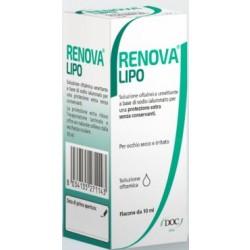 Renova Collirio Sostituto Lacrimale A Base Di Acido Ialuronico 0,4% E Lipidi Flacone Da 10 Ml Senza Conservanti