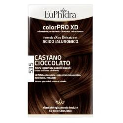 Euphidra Colorpro Xd 535 Castano Cioccolato Gel Colorante Capelli In Flacone + Attivante + Balsamo + Guanti