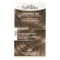 Euphidra Colorpro Xd 700 Biondo Gel Colorante Capelli In Flacone + Attivante + Balsamo + Guanti