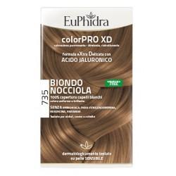 Euphidra Colorpro Xd 735 Biondo Nocciola Gel Colorante Capelli In Flacone + Attivante + Balsamo + Guanti