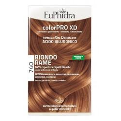 Euphidra Colorpro Xd 740 Biondo Rame Gel Colorante Capelli In Flacone + Attivante + Balsamo + Guanti