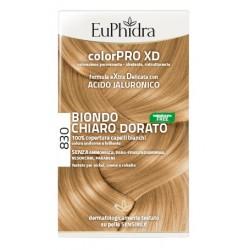 Euphidra Colorpro Xd 830 Biondo Chiaro Dorato Gel Colorante Capelli In Flacone + Attivante + Balsamo + Guanti