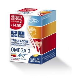 Omega 3 ACT Integratore Alimentare 60 perle