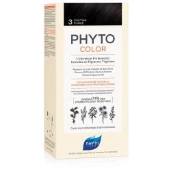 Phytocolor 3 Castano Scuro 1 Latte + 1 Crema + 1 Maschera + 1 Paio Di Guanti
