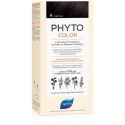 Phytocolor 4 Castano 1 Latte + 1 Crema + 1 Maschera + 1 Paio Di Guanti