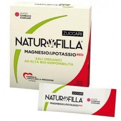 Zuccari Naturofilla Magnesio & Potassio Red Gusto Sambuco Karkade 14 Stick Pack