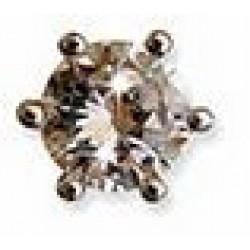 Orecchino Post Foratura Crown Zircon 6 Mm Stainless Steel Articolo Bjt958s