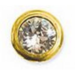 Orecchino Post Foratura Fat Golden Bezel 6mm Stainless Steel Articolo Bjt961s