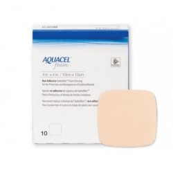 AQUACEL FOAM Cerotto Adesivo medicazione 10X10 - 10 PEZZI