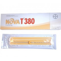 Dispositivo Intrauterino Nova T 380 In Polietilene Con Spirale In Rame Superficie 380 Mmq E Anima In Argento