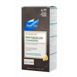 Phytocolor Sensitive 4.77 Castano Marrone Cioccolato 1 Lozione Liquida 60 Ml + 1 Crema 40 Ml + 1 Balsamo 12 Ml + Foglietto Di Istruzioni + Guanti Lattice