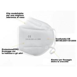 Mascherine Protettive KN95 FFP2 marchiate CE e autorizzate - 5pz